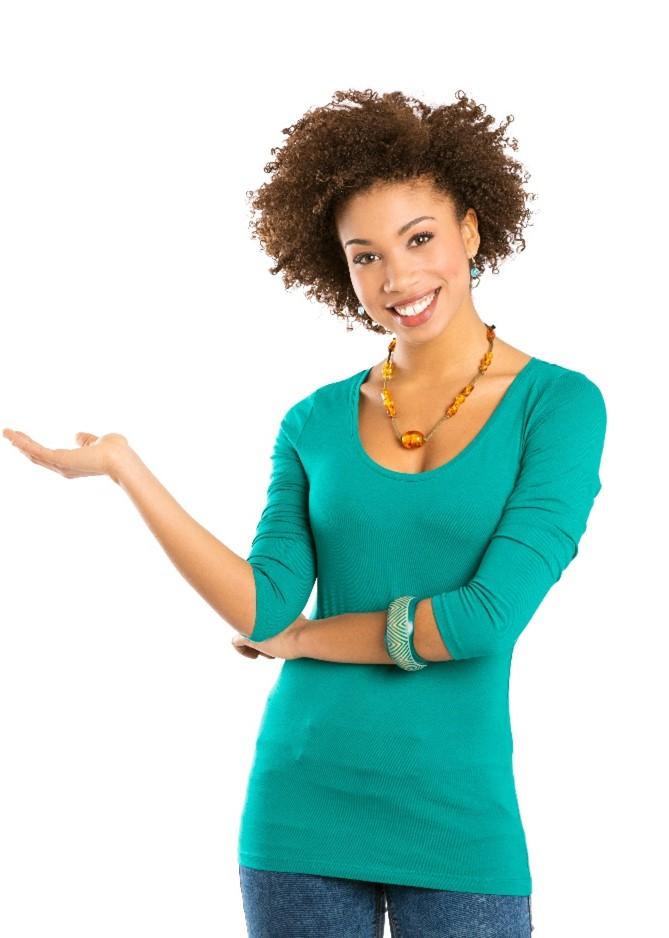 Woman Lifting Hand
