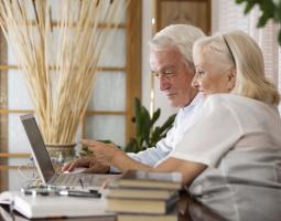 Couple At Computer